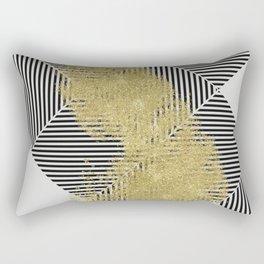 modern gold dust and line pattern design Rectangular Pillow