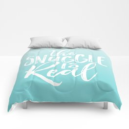 The Snuggle is Real - Sea Blue Comforters