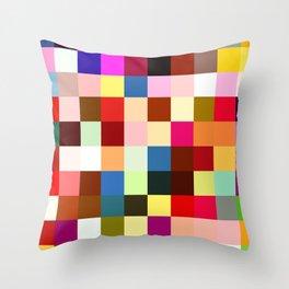 checkered times Throw Pillow