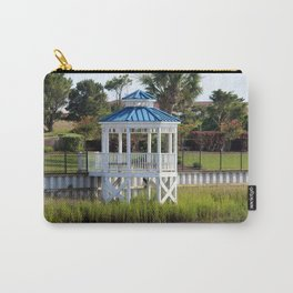 Blue And White Gazebo Carry-All Pouch