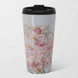 Pink Magnolias Metal Travel Mug