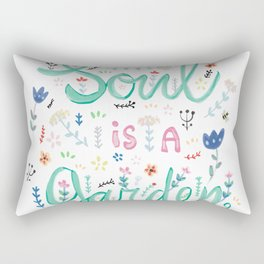 Your soul is a garden Rectangular Pillow