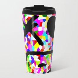 Frowny pixelated Travel Mug