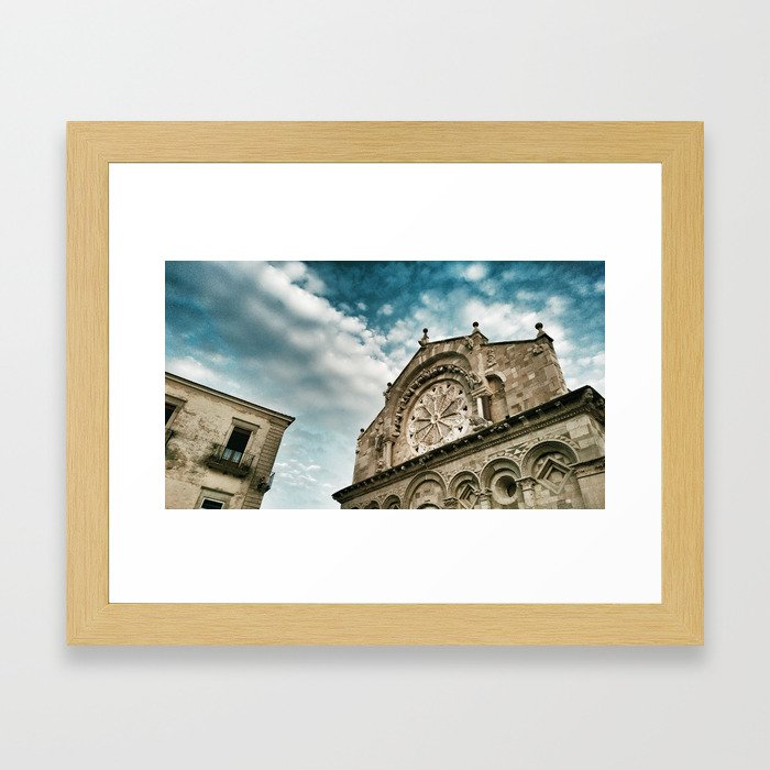 The Cathedral of Troia  Framed Art Print