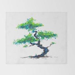Blue Bonsai Throw Blanket