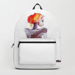 African beautiful woman Backpack