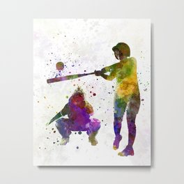 baseball players 02 Metal Print