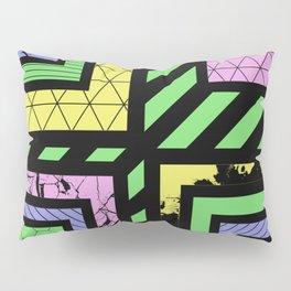 Pastel Corners (Abstract, geometric, textured designs) Pillow Sham