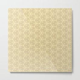 gold pattern1 Metal Print