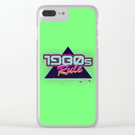 1980s Rule Clear iPhone Case