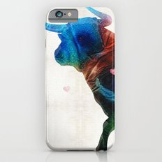 Bull Art Print – Love A Bull 2 – By Sharon Cummings Slim Case iPhone 6s