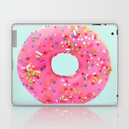 Giant Donut on Mint Laptop & iPad Skin
