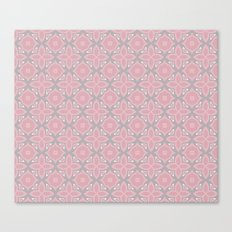 Fashionable pink and grey geometric pattern Canvas Print
