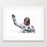 neil young Framed Art Prints featuring Neil by Ed Hengeveld Space Art