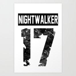 Nightwalker 17 - white Art Print