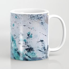Twilight [2]: a beautiful, abstract watercolor + mixed-media piece in blue, gold, purple, + pink Coffee Mug