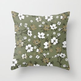 Lovable Flowers 23 Throw Pillow