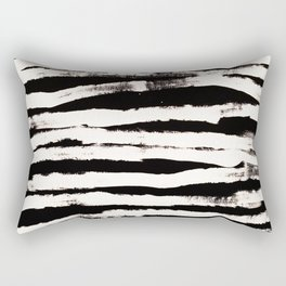 Abstract Brush Strokes Rectangular Pillow