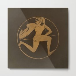 Antique greek art Metal Print