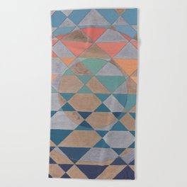 Circles and Triangles Beach Towel