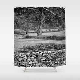 Infra Red Shadows Shower Curtain