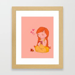 sewing love Framed Art Print