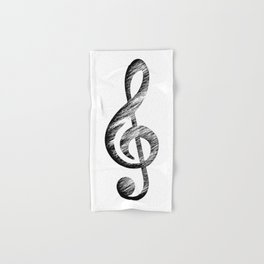Distressed Music Clef Hand & Bath Towel