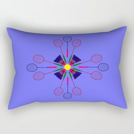Badminton Racket and Shuttlecock Design Rectangular Pillow