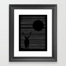 Night Lines Framed Art Print