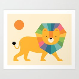 Lion Shine Art Print