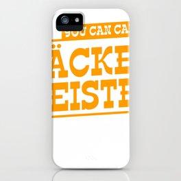 Backer Meister T-Shirt Design iPhone Case