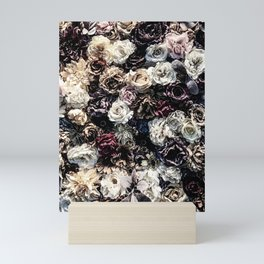 Flower Wall // Desaturated Vintage Floral Accent Background Jaw Dropping Decoration Mini Art Print