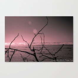 Pink Silhouette  Canvas Print