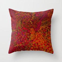 Crimson Watercolor Painting Throw Pillow