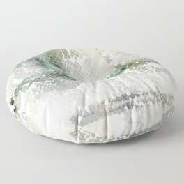 Fractured Silver Floor Pillow