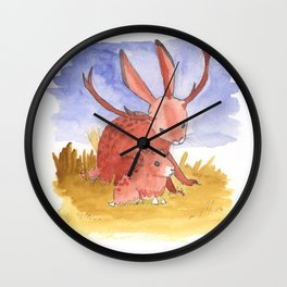 Baby Jackalope Wall Clock
