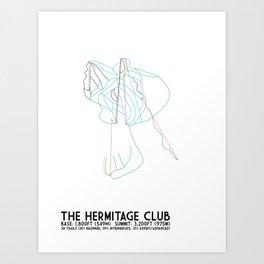The Hermitage Club, VT - Minimalist Winter Trail Art Art Print