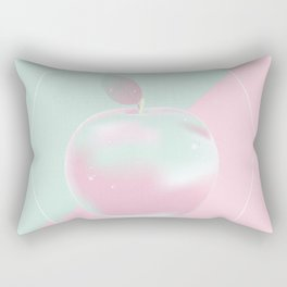 Two colored background with apple Rectangular Pillow