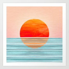 Minimalist Sunset III Art Print