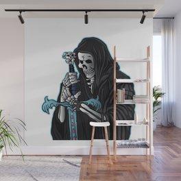 grim reaper with sword .grim reaper tattoo. Wall Mural