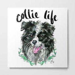 Collie Life - #adoptdontshop Metal Print