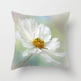 Cosmos Pastel by Kaye Menner Throw Pillow