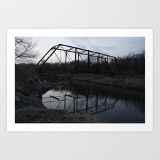 dark bridge Art Print