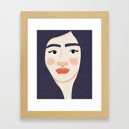 Space Geisha – White Complexion Framed Art Print