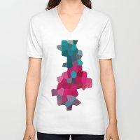 crystals V-neck T-shirts featuring Crystals by Samantha Ranlet