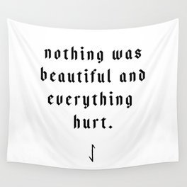 The Pessimist Wall Tapestry