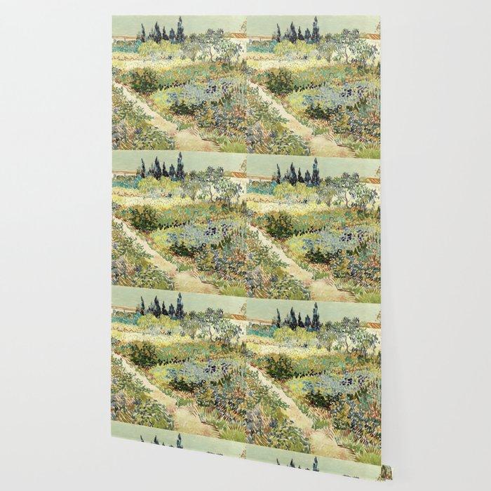 Vincent Van Gogh : Garden at Arles Wallpaper