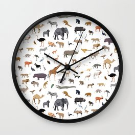 African animal pattern Wall Clock