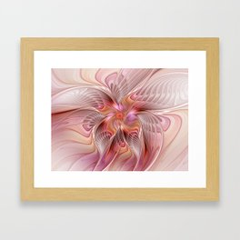 Abstract Butterfly, Fantasy Fractal Framed Art Print