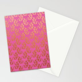 Pink Gold Mermaids Stationery Cards
